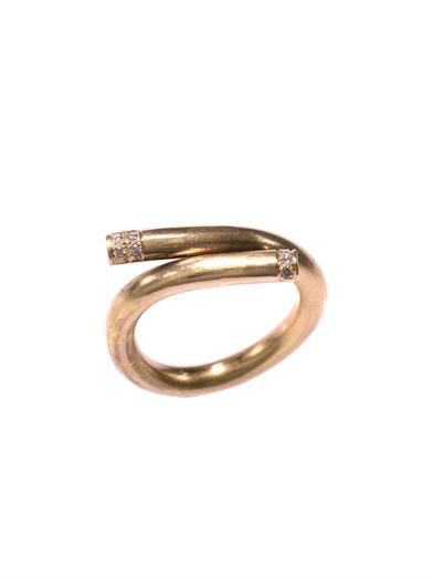 Lara Melchior Bague I diamond & yellow gold ring