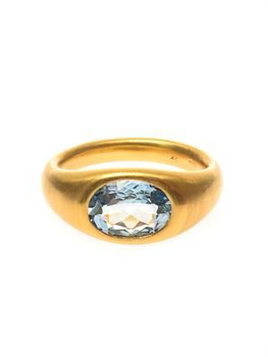 Aquamarine & yellow-gold ring