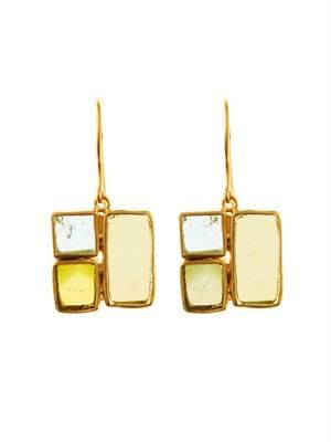 Tourmaline and yellow-gold earrings