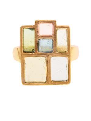 Tourmaline & yellow-gold ring
