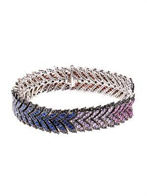 Diamond & sapphire Magnipheasant bracelet