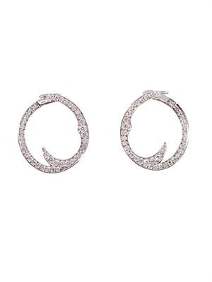 Diamond & white gold Thorn earrings