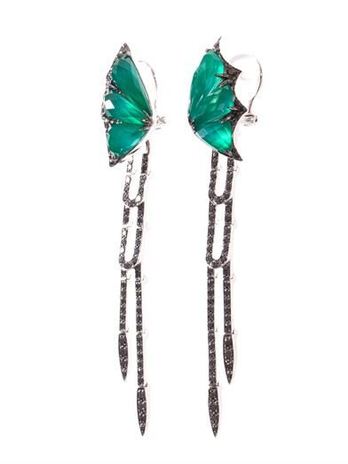Stephen Webster Diamond & quartz Fly by Night earrings