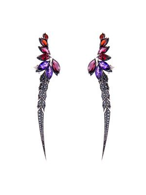 Diamond & multi-gem Magnipheasant earrings