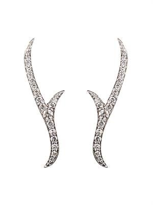 Diamond & gold Thorn Stem earrings