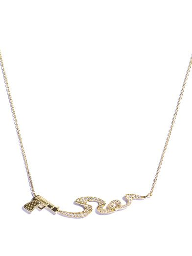 Stephen Webster Diamond and gold Smoking Gun necklace