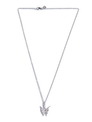 Diamond and white gold Batwing necklace