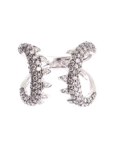 Stephen Webster Diamond & white gold Verne ring