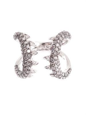 Diamond & white gold Verne ring