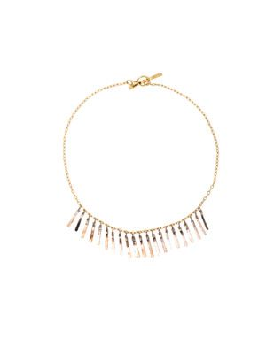 Fringe white & yellow gold bracelet