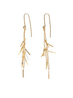 Fringe yellow gold earrings