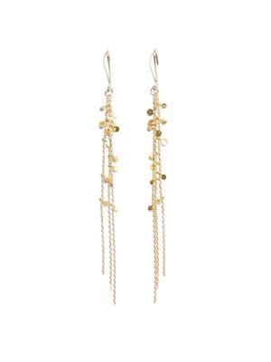 Yellow-gold Random Dots earrings