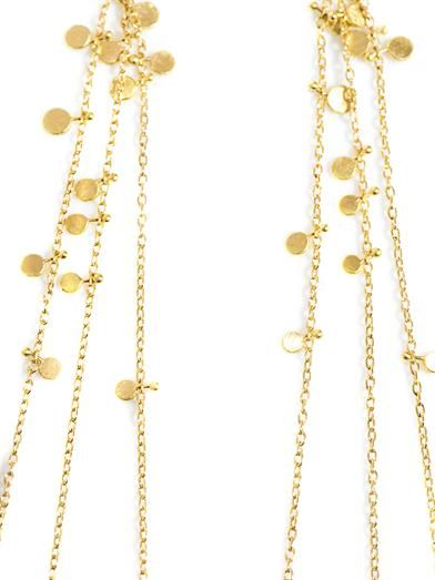 Sia Taylor Yellow-gold Random Dots earrings