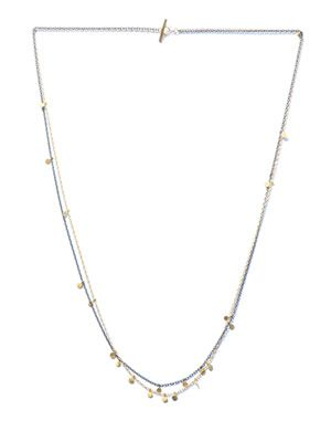 Oxidised-silver & yellow gold necklace