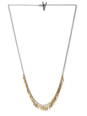 Silver and gold Fringe necklace