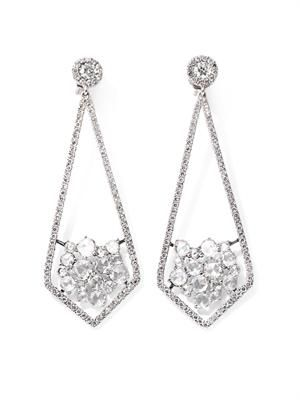 Diamond and white gold earrings