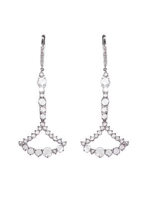 Diamond & white-gold chandelier earrings