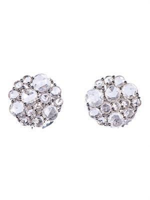 White-diamond & white-gold stud earrings