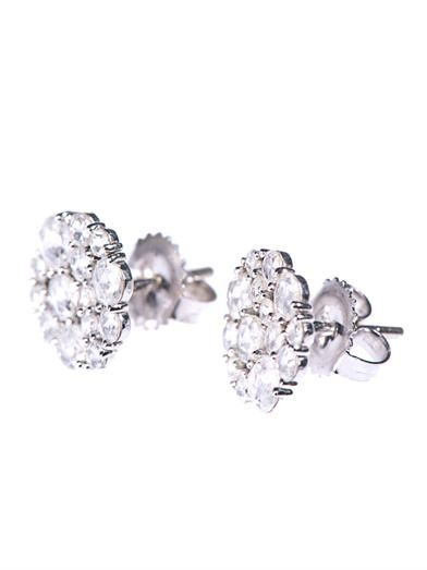 Susan Foster White-diamond & white-gold stud earrings
