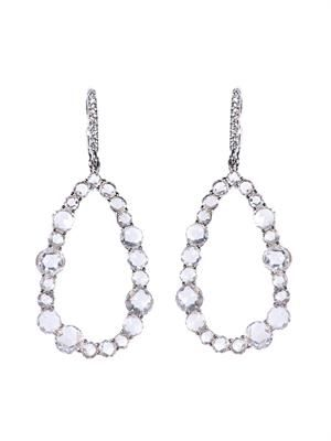 White-diamond & white-gold earrings