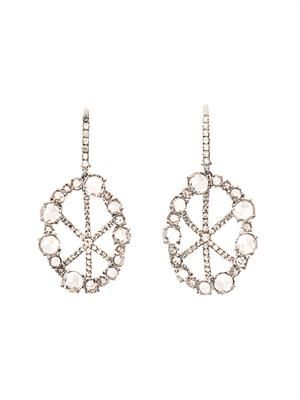 Diamond & white-gold basket earrings