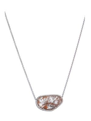 Diamond slice, pave diamonds and gold necklace
