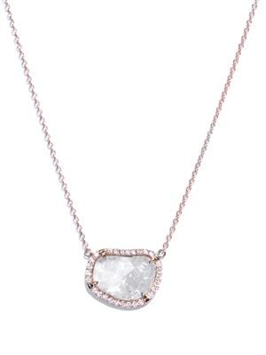 Diamond slice & rose gold necklace
