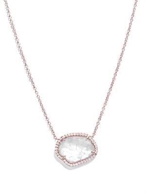 Diamond slice and rose gold necklace