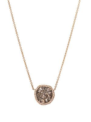 Diamond slice & yellow-gold necklace