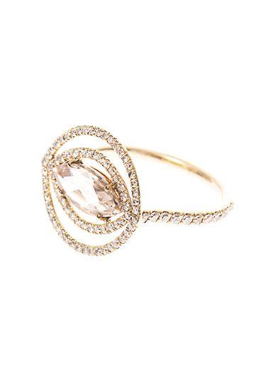 Susan Foster Diamond & yellow-gold ring