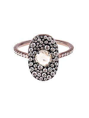Diamond & rose-gold bubbly ring