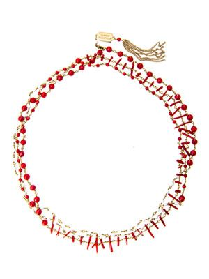 Rosarietto agate and coral necklace