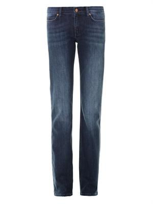 London mid-rise boot-cut jeans