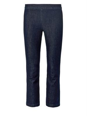 Seeton high-rise kick-flare cropped jeans