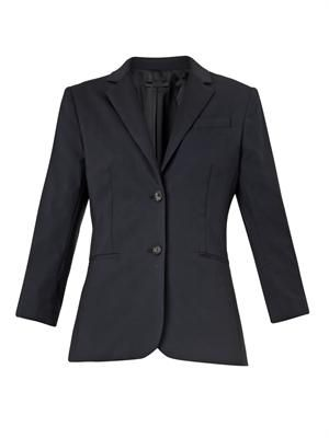 Schoolboy wool-crepe blazer