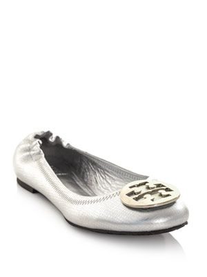 Reva metallic ballet shoes