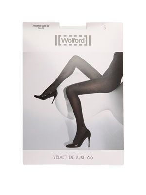 Black velvet deluxe tights