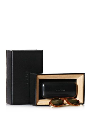 Linda Farrow For The Row Light tortoiseshell sunglasses