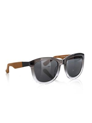 Dual-tone leather sunglasses