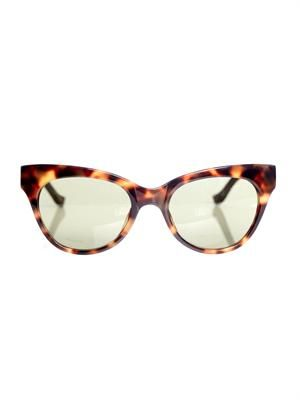 Tortoiseshell and leather sunglasses