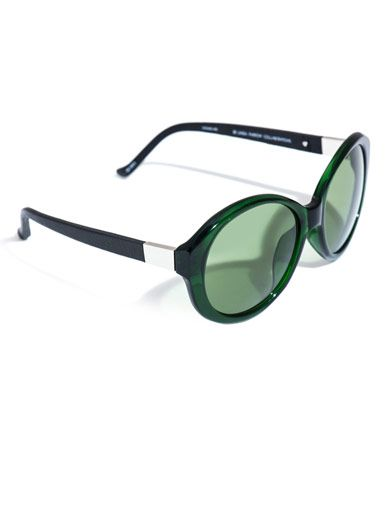 The Row Large oval acetate and leather sunglasses