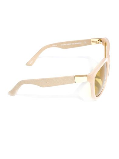 The Row Thick acetate and leather sunglasses