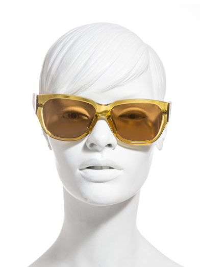 Linda Farrow For The Row Thick square acetate and leather sunglasses