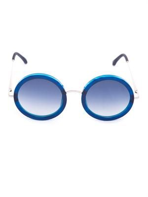 Oversized round-frame sunglasses