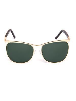 Gold-tone metal and lizard sunglasses