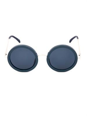 Oversized round-framed sunglasses