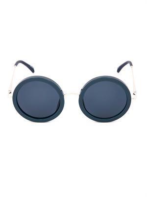 Oversized round-framed sunglasses