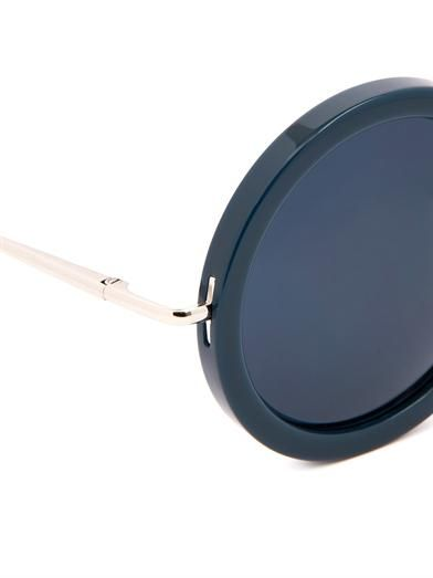The Row Oversized round-framed sunglasses