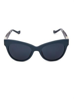 Leather and acetate sunglasses