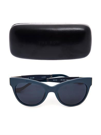 The Row Leather and acetate sunglasses